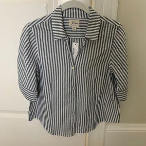 J. Crew Short Sleeve Button up Shirt